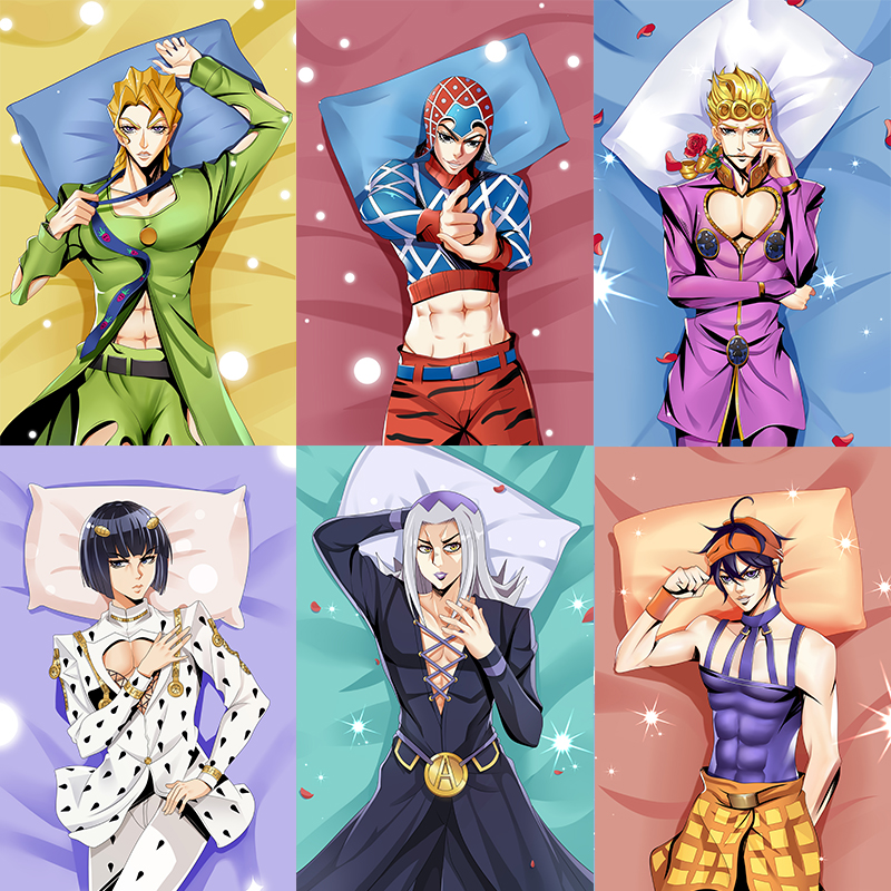 2019 September JoJo's Bizarre Adventure Dakimakura Johnny Joestar & Jotaro Kujo & Noriaki Kakyoin Dio Brando Hugging Body Pillow