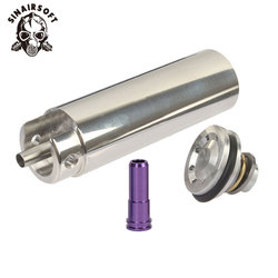 Tune Up Kit Stainless Steel CNC Milled One-piece Solid Cylinder Built-in Cylinder Head Piston Head Nozzle Airsoft Paintball