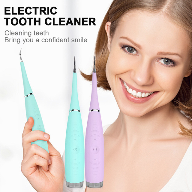 KOLI Electric Ultrasonic Sonic Dental Scaler Tooth Calculus Remover Cleaner Tooth Stains Tartar Tool Whiten Teeth Tartar