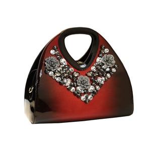 Image 5 - Luxus Mode Diamant Frauen Handtasche Weibliche Knödel Tasche Aus Echtem Leder Tote Tasche Damen Neue Partei Schulter Messenger Taschen
