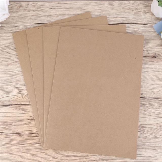 20pcs A4 Kraft Paper File Folder Document Paper Organizer Storage Holder School Office Stationery Supplies 2