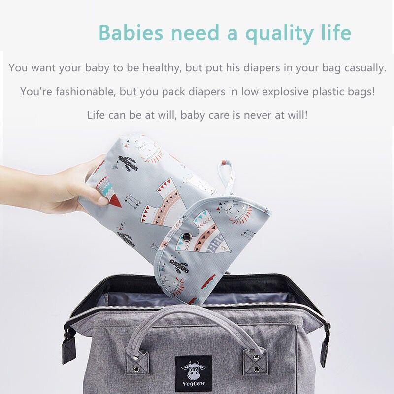 NEW Waterproof Baby Diaper Bags Reusable Infant Diaper Pouch Portable Big Capacity Mummy Bags Diaper Organizer Wholesale