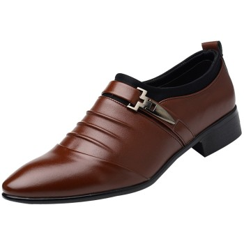italian brand designer men casual business wedding formal dress bright patent leather shoes slip on lazy driving oxfords loafers British Men 's Slip On Shoe Split Leather Pointed Dress Shoes Business Wedding Oxfords Formal Shoes For Male