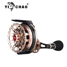 YICHAO דיג סליל חזק ויציב מהיר פירוק אלומיניום סגסוגת החלקה הלם קליטה נטו משקל 210g דיג סליל