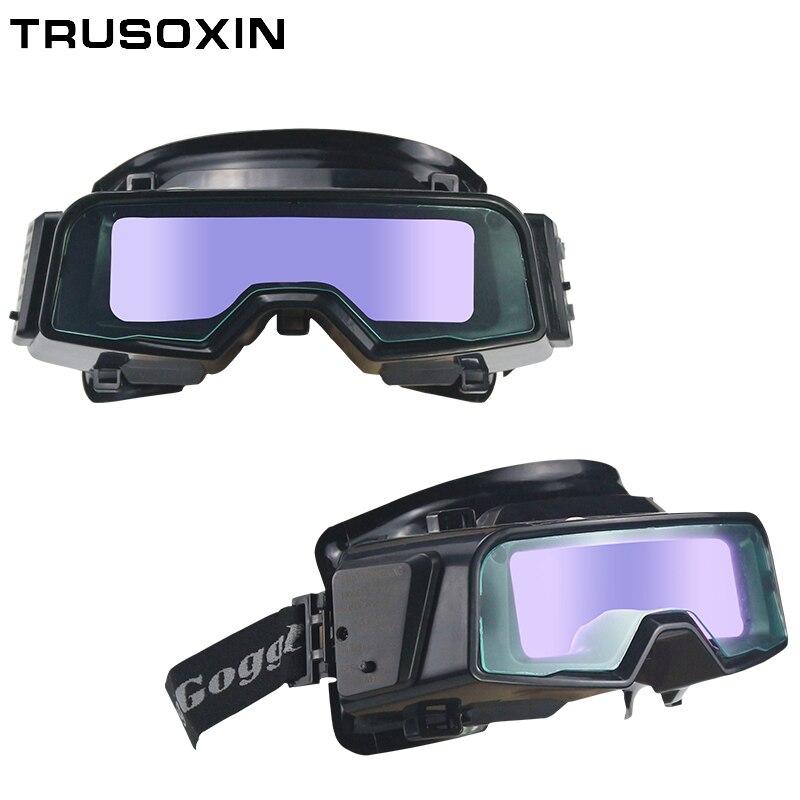 Outside Control Solar Auto Darkening Welding Glasses Welder Mask Welding Helmet With Shade eara Din9-Din13