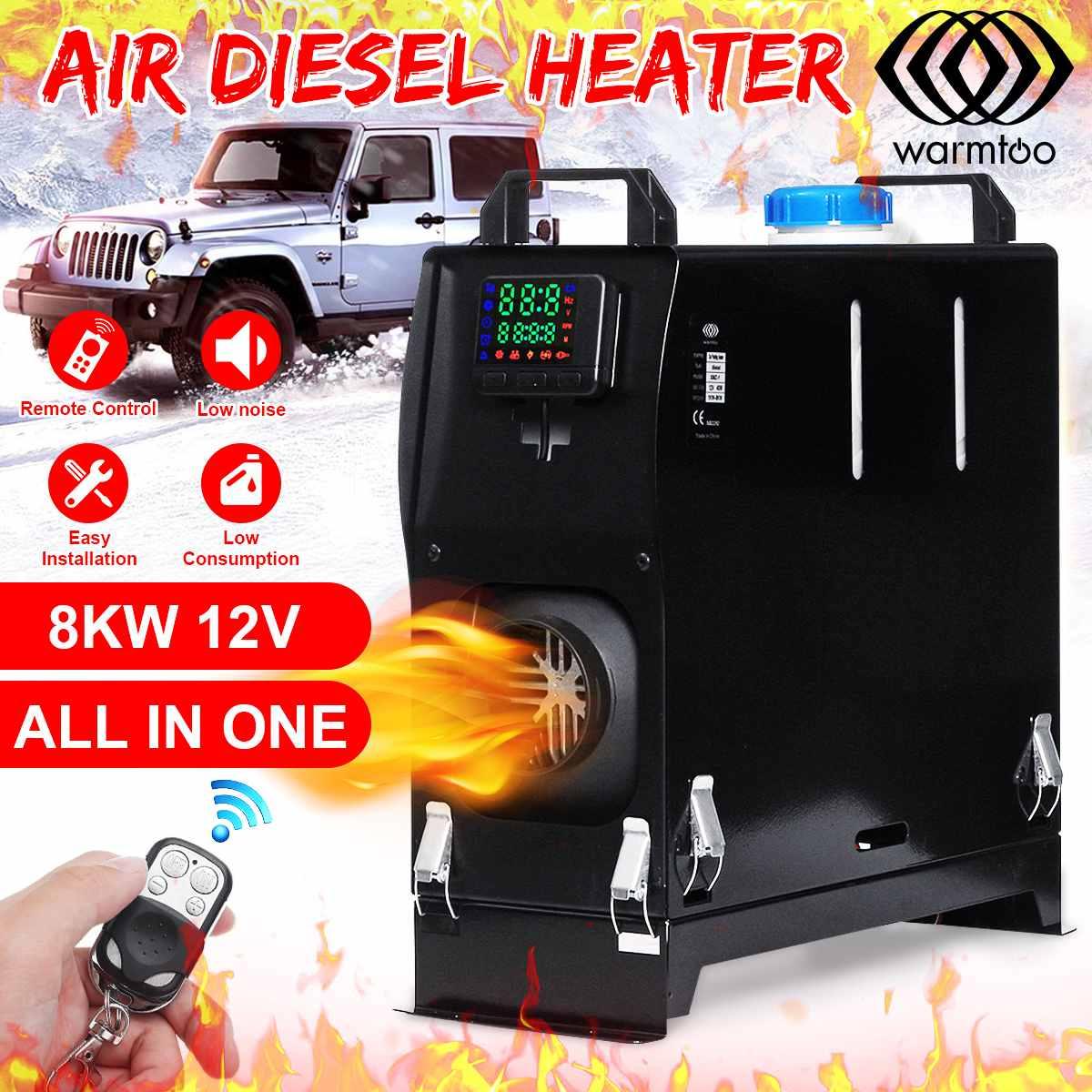8 кВт 12 в автомобильный обогреватель все в одном ЖК монитор дизельное воздушное Отопление вспомогательная нагревательная машина нагреватель для дома на колесах грузовики лодки|Обогрев и вентиляторы|   | АлиЭкспресс