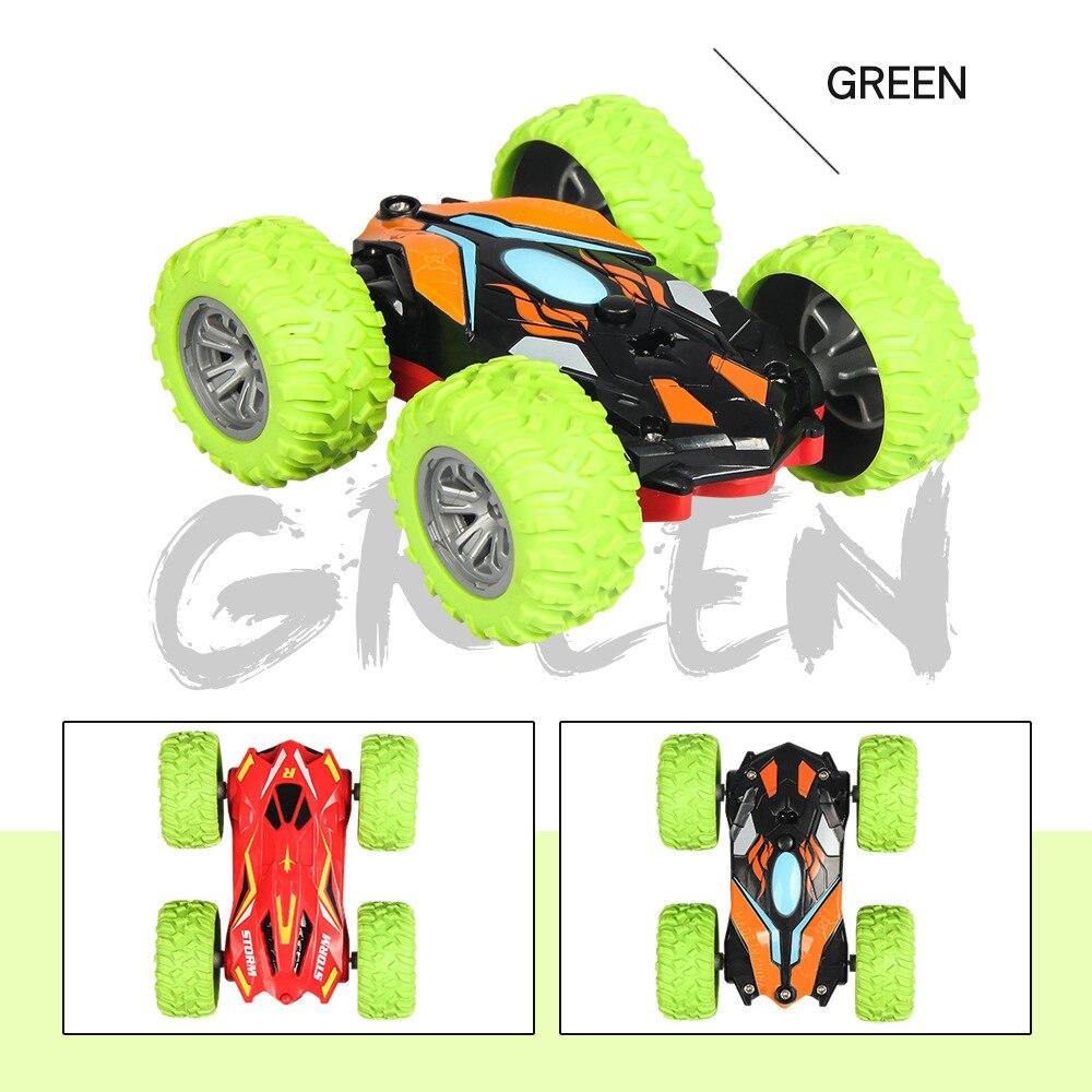 1/32 радиоуправляемая трюковая машина высокоскоростная крутая гусеничная машина 360 градусов переворачивается Багги машина двухсторонняя вращающаяся крутая Радиоуправляемая машина детская игрушка - Цвет: Green