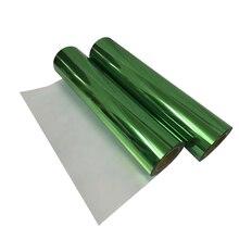 Теплопередающая виниловая металлическая зеленая фольга рулон