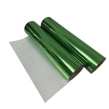 цена Heat transfer vinyl Metallic green foil roll vinyl iron on transfer HTV clothes vinyl heat press decor film easy weed cut vinyl онлайн в 2017 году