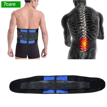 Lumbar Back Brace Support Belt - Lower Back Pain Relief Massage Band for Herniated Disc Sciatica and Scoliosis for Men & Women lumbar orthopedic herniated disc brace waist back spinal support belt faja pain relief unisex adjustable