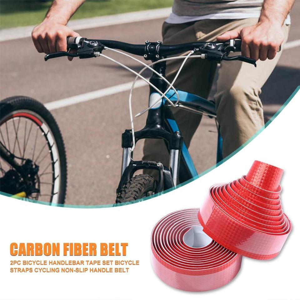 Portable Adhesive Wrap Road Bike Handle Bicycle Bar Tape Belt Carbon Fiber