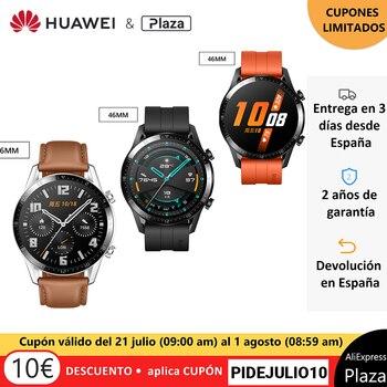 Versión global HUAWEI Watch GT 2 GT2 Smart Watch Blood Oxygen Llamada telefónica de 14 días Frecuencia cardíaca impermeable