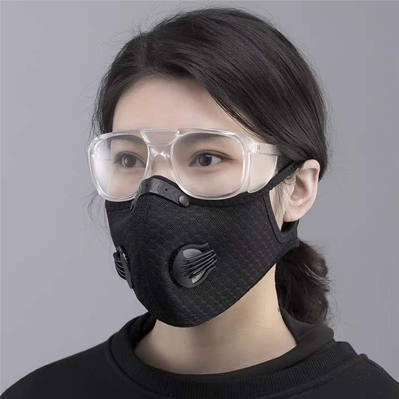 H30-Dust-With-4-Filters-4-Exhaust-Valves-Half-Face-Reusable-Dustproof-Respirator-Bicycle-Mask (2)