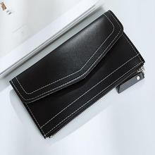 Useful 2019 Fashion Women Wallets and Purses Thin Long Coin Hasp Purses Business Credit Card Holders Ladies Money Case Pouch cheap LKEEP Short Polyester Solid MF2006542 Interior Slot Pocket 10cm Unisex 19 2cm Mini Wallets NONE Ultra-thin mid-length ladies wallet