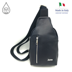 Juice brand, genuine leather bag Made in Italy, casual waist pack, pouch, for men.007.412