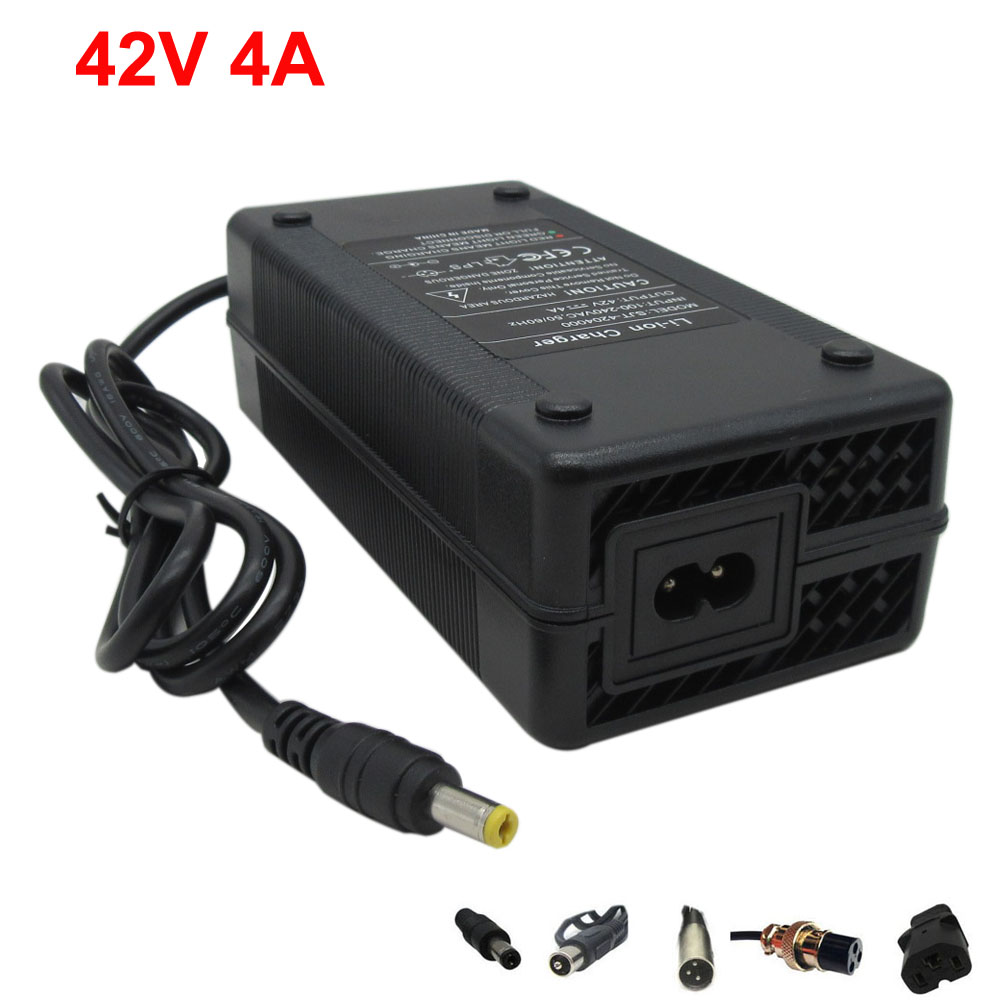 36V DC Li-ion e bike battery charger Output 42V 4A charger Used for 36V 10S 20AH Ebike scooter lithium battery charging with fan