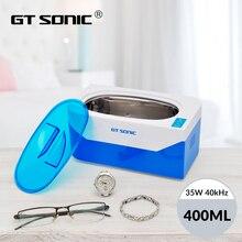 GTSONIC VGT 900 ultrasonik temizleyici 400ML 35W kolye küpe bilezikler protez ultrasonik banyo