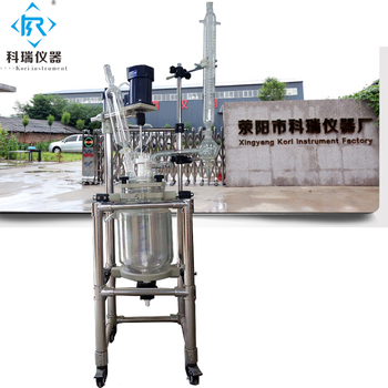 SF-5L  New style  glass lab supplies  lab  reactor with glass reaction flask with stirrer mixer/lab heating cooling machine