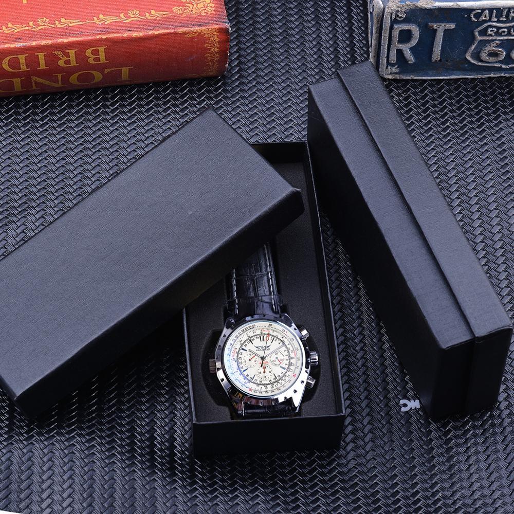 Jaragar 2020 Blue Glass Aviator Series Military True Men Sport Automatic Wrist Watch Top Brand Luxury Mechanical Male Clock Hour 6