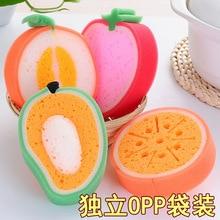 Creative Korean Cartoon Bath Cleaning Sponge, Fruit Cotton, Modeling Sponge Childrens bath sponge