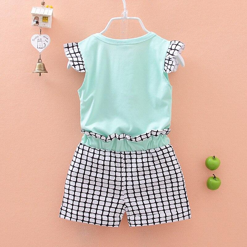 nœud Pantalon Shorts Vêtements Set 2pcs//Set filles enfant kid Polka Dot T-shirt tops