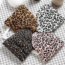 Hat Winter Beanie Hairball Fashion Women Warm-Cap Crochet Knit Leopard Adult -D High-Quality