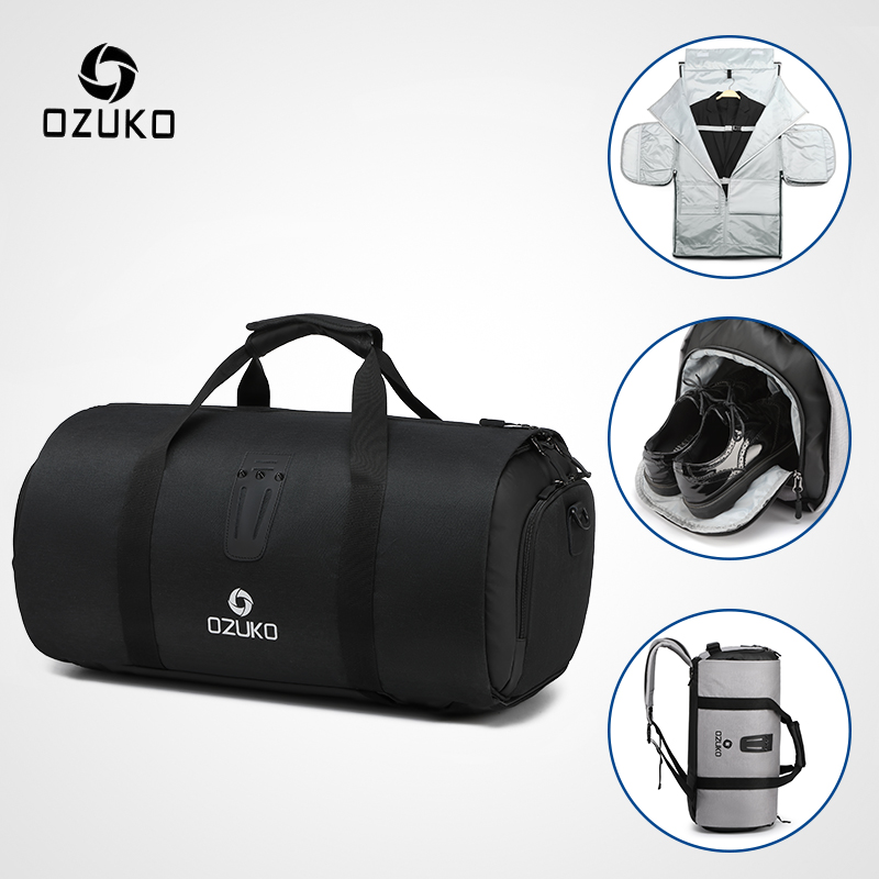 OZUKO Multifunction Large Capacity Men Travel Bag Waterproof Duffle Bag for Trip Suit Storage Hand Luggage Bags with Shoe Pouch|Travel Bags| - AliExpress