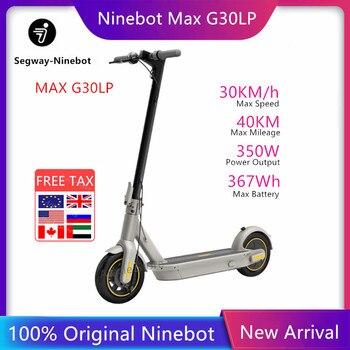 Patinete eléctrico Ninebot Max G30LP, patinete Kickscooter plegable inteligente, patín plegable de 30 km/h 40km, rueda de 10 pulgadas, nuevo Original 2020