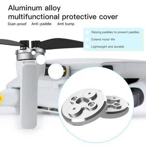 Image 2 - 4 pièces en alliage daluminium couvercle de moteur pour DJI Mavic Mini étanche à la poussière protecteur de moteur en Aluminium léger Slip over pour Mini