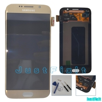 Original 100% Super Amoled Burn in shdaow screen For Samsung Galaxy S6 Edge G925F LCD Display Touch Screen Digitizer Assembly
