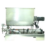 500ML Stirring filling machine U shape hopper mixing filler paste stuff and liquid material bottling machine, food safe SS304