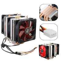 High quality 6 heatpipe dual tower cooling 9cm fan support 3 fans 4PIN CPU cooler 775 115X 1366 2011 AM3 AM4 FM1 FM2 Ryzen|Fans & Cooling| |  -
