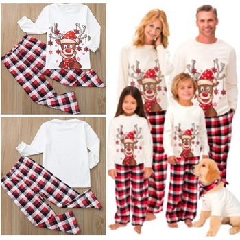 Фото - Plaid Christmas Family Matching Pajamas Set Xmas Deer Father Mother Children Baby Sleepwear Mommy and Me Pj's Clothes Tops+Pants haig m father christmas and me