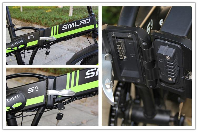 S9F China manufacturer 20 inch e bike 48v 1000w Bafang Motor fatbike 14AH Sam sung battery folding electric bike 17