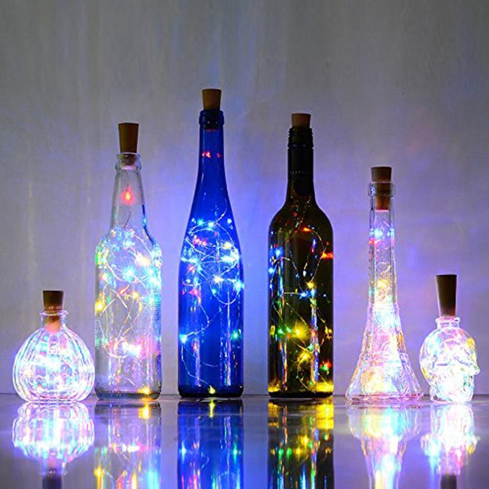 1PC 1.5M 15LEDs 3 Colors Garland Bottle String Lights LED Cork Shape Light USB Charging Fairy Lights Christmas Decorations @