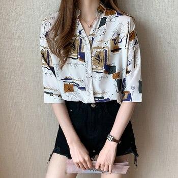 2020 Summer Shirt Women White Black Shirts Blouse Female Short Sleeve Casual Streetwear Loose Blouses Top