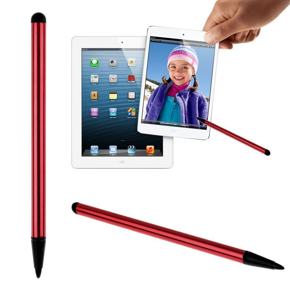 Новинка 2021 ручки для сенсорного экрана ручной работы однотонные двухсторонние силиконовые 12 см стилус для сенсорного экрана модные аксесс...