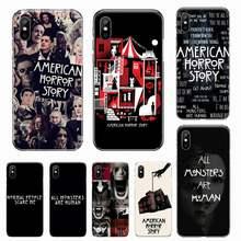 De Historia de terror americano AHS funda para teléfono para iphone 12 5 5s 5c se 6 6s 7 8 plus x xs x xr 11 pro max de alta calidad de protección de capa
