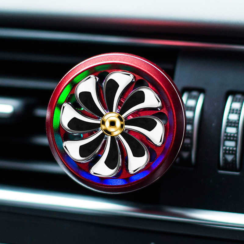 LED Mini Car Air Freshener Bau AC Ventilasi Outlet Parfum Klip Segar Aromaterapi Fragrance Mobil Auto Aksesoris