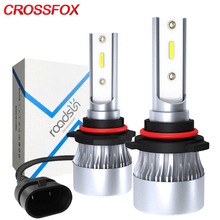 CROSSFOX Car Headlight H4 Hi/Lo LED H7 H1 H8 H9 H11 LED 9005 9006 12000LM 6000K 9003 HB2 Auto Lamp Headlamp 12V Fog Light Bulbs