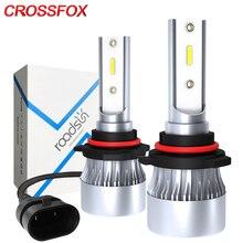 CROSSFOX רכב פנס H4 Hi/Lo LED H7 H1 H8 H9 H11 LED 9005 9006 12000LM 6000K 9003 HB2 אוטומטי מנורת פנס 12V ערפל אור נורות