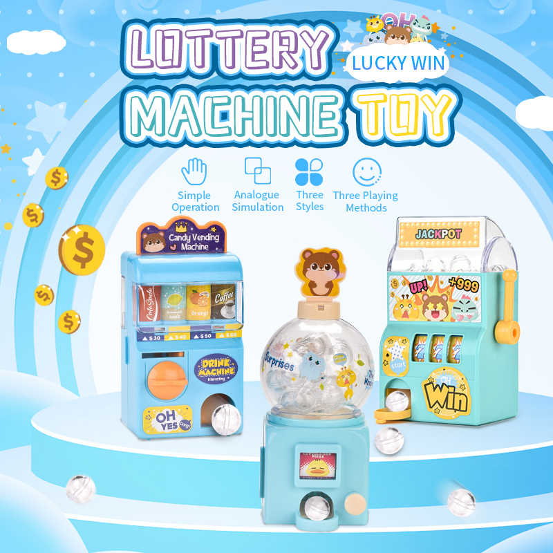 Simulation Lottery Machine Toy  Rocker Rolling Toy Machinery Desktop Manual Drink Toy Machine Simulation Board Games Puzzle Toys