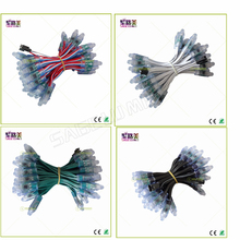 500Pcs DC5V /DC12V 12Mm Ws2811 Ic Led Module Zwart/Groen/Wit/Rwb Draden String kerst Led Pixel Licht; adresseerbare; Waterdicht