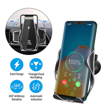15W Car Qi Wireless Charger For iPhone 12 11 Pro Xs Max Mini X Xr 8 Induction Fast  cargador Charging Pad For Samsung Xiaomi