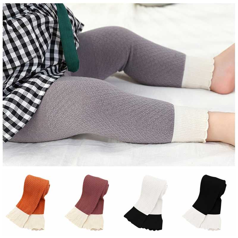 2019 Candy Color Baby Pants Hot Sale Baby Girl Stretch Leggings Pants Spring Autumn Toddler Child Knitting Trousers