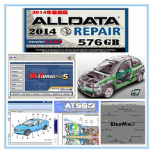 Oto tamir yazılımı Alldata V10.53 ve OD5 tüm veri + mi .. ll 2015 + atsg + elsawin 24 1tb hdd usb3.0 için araba/kamyon tanı aracı