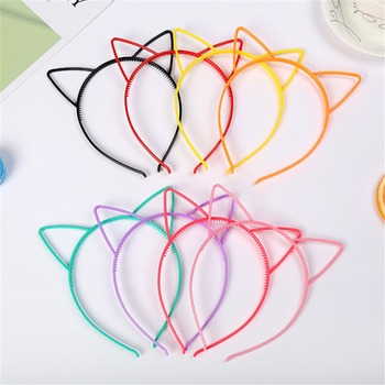 1pcs Sexy Lady Cat Ears Headband Hair Hoop Colorful Baby Kids Hairbands Birthday Party Headwear Women Girls Hair Accessories image