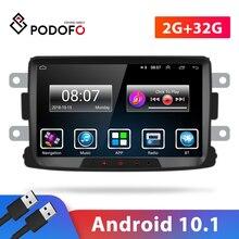 Автомагнитола Podofo, мультимедийный плеер на Android, с 8