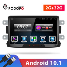 Podofo-Radio Multimedia con GPS para coche, Radio con reproductor, Android, 2Din, 8 '', Mirrorlink, receptor estéreo, para protector antipolvo para Renault/Logan/Dokker