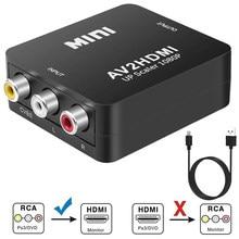 Video Audio Converter FHD 1080P AV zu Adapter MINI AV2 Adapter Konverter Box für PAL NTSC / PA Haushalt TV Beobachten